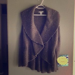 Design History Wool Ruffled Wrap Cardigan